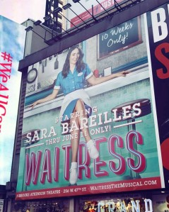 Waitress in Time Square