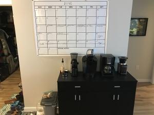 Coffee Bar and Calendar
